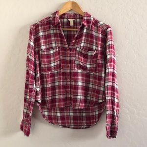 Soft flannel top